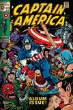 Marvel Comics Retro: Captain America Comic Book Cover No112  Album Issue! (aged)