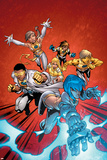 New X-Men No2 Cover: Surge  Prodigy  Wind Dancer and New X-Men