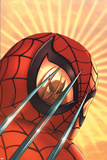 Marvel Age Team Up No2 Cover: Spider-Man and Wolverine Charging