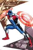 Captain America Corps No5 Cover: Commander A Croching and Posing