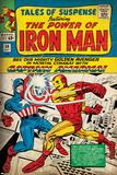 Marvel Comics Retro: The Invincible Iron Man Comic Book Cover No58  Facing Captain America (aged)