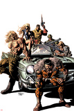 New Avengers No10 Cover: Kraven the Hunter  Sabretooth  Dominic Fortune  Dum Dum Dugan  and Others
