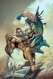 X-Men No164 Cover: Wolverine and Sabretooth