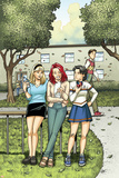 Spider-Man Loves Mary Jane Season 2 No4 Cover: Mary Jane Watson  Stacy  Gwen  and Liz Allen