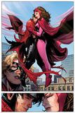 Avengers: The Childrens Crusade No6: Panels with Scarlet Witch and Wiccan Flying and Hugging