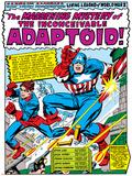 Marvel Comics Retro: Captain America Comic Panel  The Inconceivable Adaptoid! with Bucky