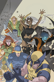 Uncanny X-Men: First Class No4 Cover: Wolverine  Cyclops  Phoenix  Storm and Nightcrawler