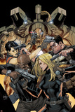 Ultimate Avengers vs New Ultimate No5 Cover: Carol Danvers and Nick Fury with Guns in a Stand-Off