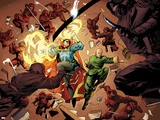 New Avengers No5: Dr Strange and Wong Fighting