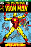 Marvel Comics Retro: The Invincible Iron Man Comic Book Cover No47  Breaking Through Chains