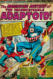 Marvel Comics Retro: Captain America Comic Panel  The Inconceivable Adaptoid! with Bucky (aged)