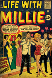 Marvel Comics Retro: Life with Millie Comic Book Cover No13  Bathing Suit  Beach Club Dance (aged)