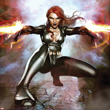 Secret Avengers No15 Cover: Black Widow Crouching and Shooting