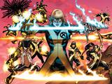 New Mutants No1 Cover: Magik  Moonstar  Karma  Magma  Sunspot  Warlock and Legion