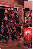 Avengers: The Childrens Crusade No6: Panels with Hawkeye Standing with Bow and Arrow