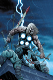 Ultimate New Ultimates No4 Cover: Thor Standing