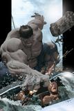 Ultimate Comics Ultimates No8 Cover: Hulk Smashing