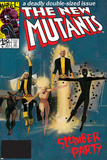 The New Mutants No4 Cover: Sunspot  Cannonball  Magik  Magma  Wolfsbane and New Mutants