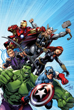 Avengers Assemble No1 Cover: Captain America  Hulk  Black Widow  Hawkeye  Thor  and Iron Man