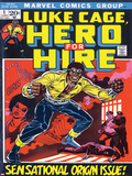 Marvel Comics Retro: Luke Cage  Hero for Hire Comic Book Cover No1  Origin