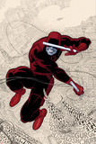 Daredevil No1 Cover: Daredevl Jumping amidst Sounds