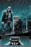 Secret Warriors No24: Nick Fury Standing in the Rain at Night by a Tombstone
