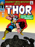 Marvel Comics Retro: The Mighty Thor Comic Book Cover No125  Journey into Mystery