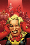 Avengers Assemble 16 Cover: Captain Marvel  Captain America  Black Widow  Hawkeye  Thor  Hulk