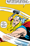 Marvel Comics Retro: Mighty Thor Comic Panel  Swinging Hammer