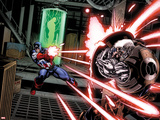 Avengers: X-Sanction No1: Captain America Shooting at Cable