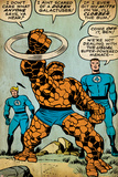 Marvel Comics Retro: Fantastic Four Comic Panel  Thing  Mr Fantastic  Human Torch (aged)
