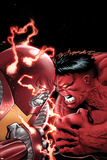 Uncanny X-Men No11 Cover: Colossus and Red Hulk Fighting