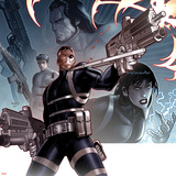 Secret Warriors No24 Cover: Nick Fury Standing with a Gun