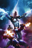The Thanos Imperative No6 Cover: Star-Lord and Nova Shooting