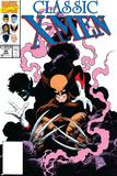 X-Men Classic No45 Cover: Wolverine and Nightcrawler Fighting