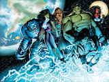 Incredible Hulks No614: A-Bomb  She-Hulk  Hulk  Skaar  Red She-Hulk  and Korg Standing