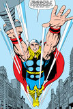 Marvel Comics Retro: Mighty Thor Comic Panel  Flying