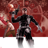 Secret Warriors No25 Cover: Nick Fury Standing with a Gun