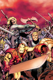 Avengers Prime No5 Cover: Iron Man  Thor  and Steve Rogers Charging
