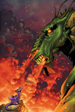 Avengers vs Pet Avengers No2 Cover: Fin Fang Foom and Lockheed Flaming