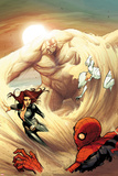 The Amazing Spider-Man No684 Cover: Spider-Man  Black Widow  and Silver Sable Caught by Sandman