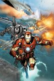 Invincible Iron Man No513: Iron Man and War Machine Flying