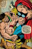 Marvel Comics Retro: Mighty Thor Comic Panel  Hercules (aged)