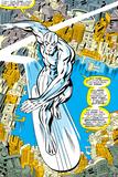 Marvel Comics Retro: Silver Surfer Comic Panel  Over the City
