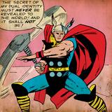 Marvel Comics Retro: Mighty Thor Comic Panel (aged)