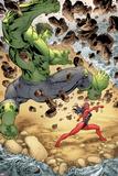 Incredible Hulks No613: Hulk and Red She-Hulk Fighting