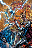 Chaos War No3 Cover: Thor Fighting