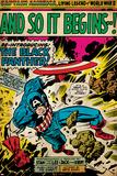 Marvel Comics Retro: Captain America Comic Panel  And So It Begins! (aged)