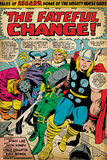 Marvel Comics Retro: Mighty Thor Comic Panel  Tales of Asgard  the Fateful Change! (aged)