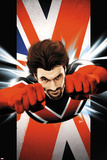 Ultimate Comics Ultimates No6 Cover: Captain Britain Flying